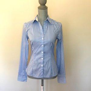 NWOT -H&M button down striped shirt.